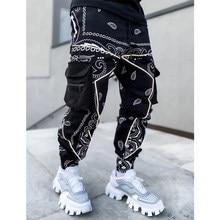 Pantalones de chándal holgados para hombre, diseño de Hip hop, moda urbana