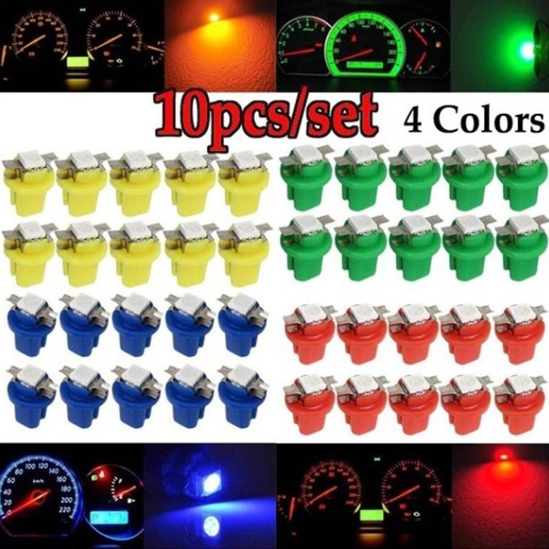 10 шт. T5 b8 5 1smd светодиодный световой индикатор автомобиля центральная консоль лампа приборной панели автомобиля аксессуары