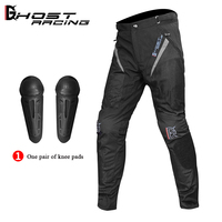 GHOST RACING Motorcycle Pants Men Body Protective Gear Motocross Windproof Riding Trousers Pantalon Moto Pants With Knee Pads