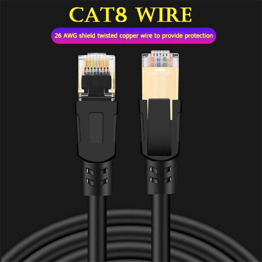 Cat8 Ethernet Cable RJ 45 Network Cable Lan Cable RJ45 Patch Cord 25/40Gbps For Router Laptop Cable Ethernet