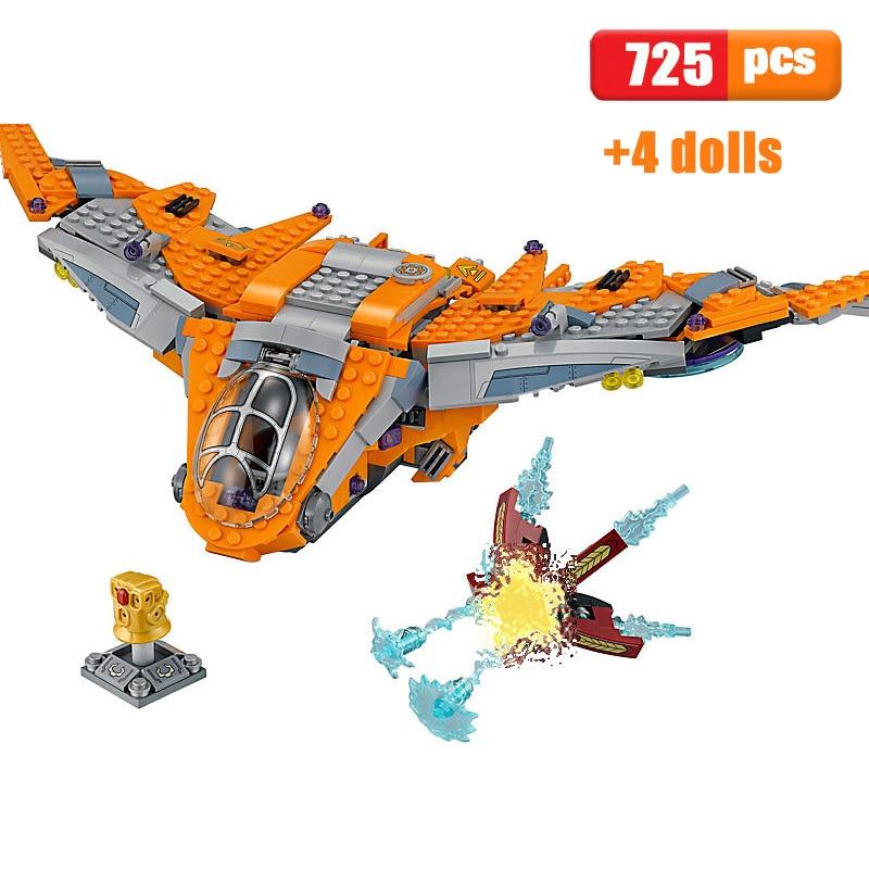 709pcs Marvel Thanos Ultimate Battle Building Blocks Bricks Figures Toy Model for sale online