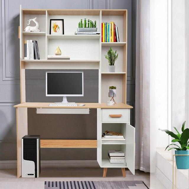 Computer Desk Bookcase Combination  4