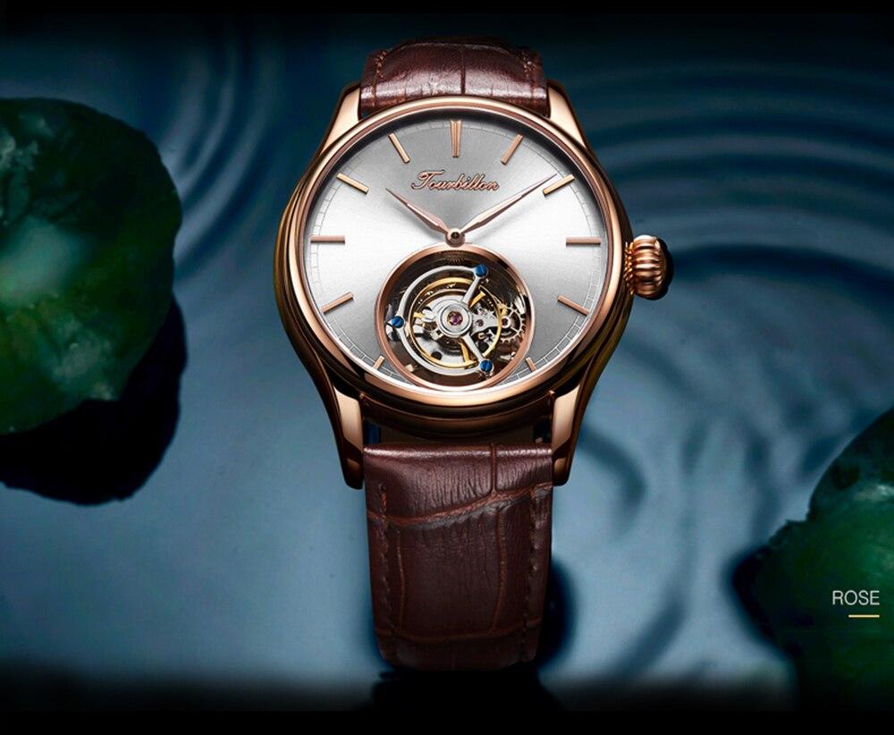 mecânico safira relógios dos homens marca superior
