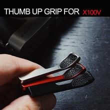 تصميم ل فوجي X100V فوجي فيلم X 100V عالية الجودة الإبهام لأعلى الإبهام الراحة الحذاء الساخن غطاء مع جلد طبيعي ملصقا