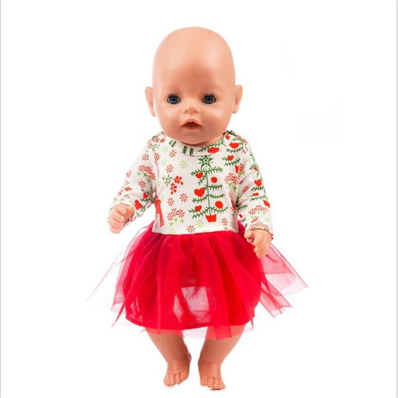 Born New Baby Doll Clothes Fit 18 inch 40 43cm Doll Unicorn Yarn Skirt Leaf Cake Skirt Clothes accessories For Baby Gift in Dolls Accessories from Toys Hobbies