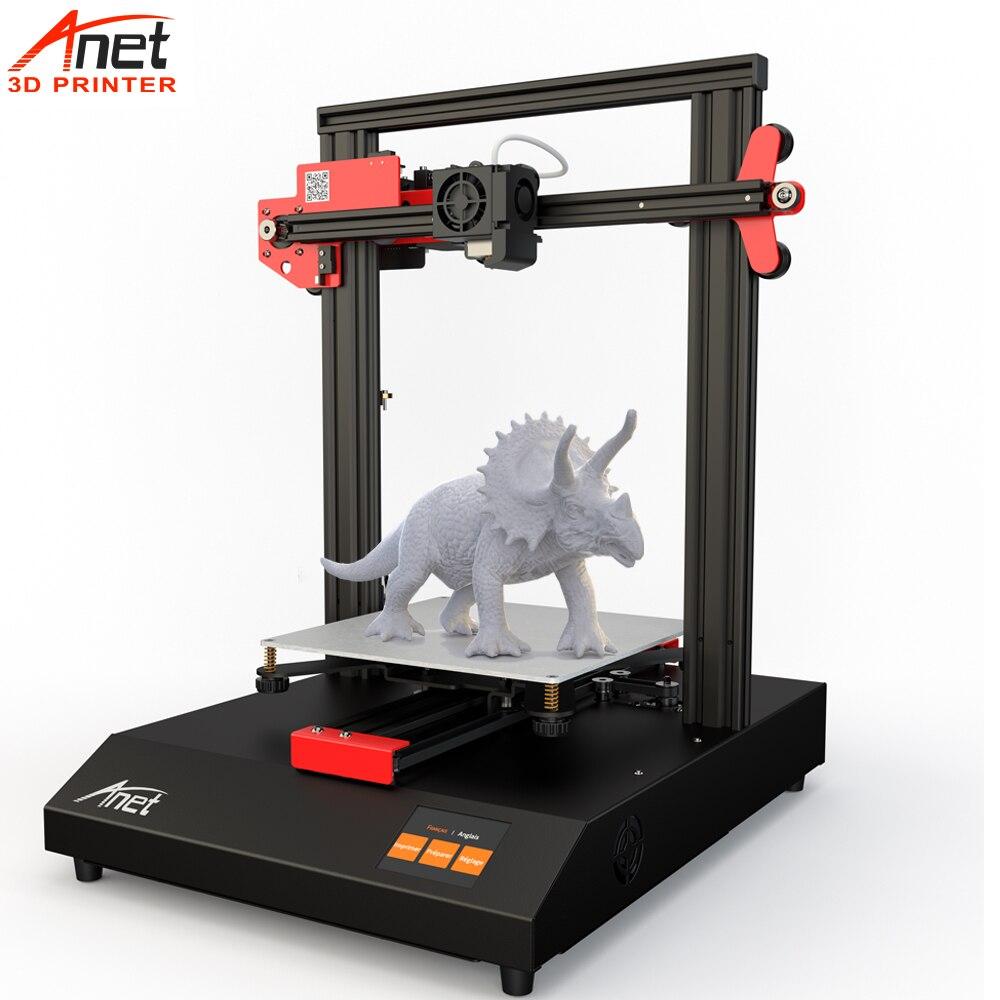 2019 nouveauté Anet ET4 2.8 ''toucher tout métal cadre rapide chauffage bricolage imprimante 3D 25 Points nivellement automatique reprendre l'impression