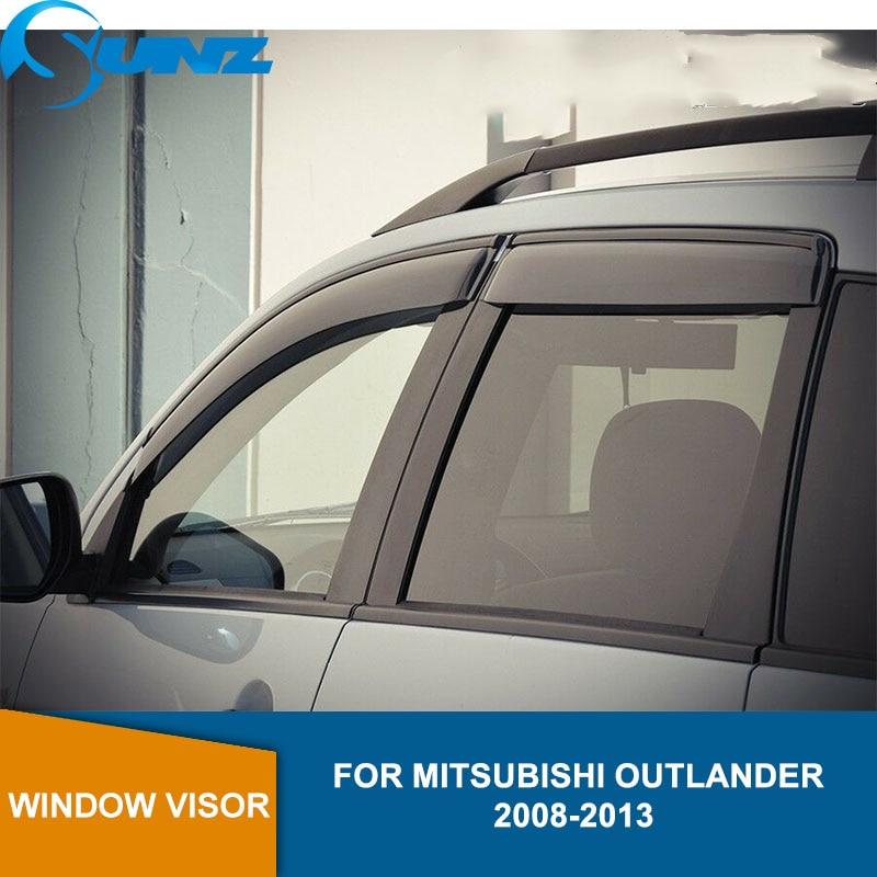 Car styling Acrylic Window Wind Deflector Visor Rain Sun Guard Vent For Mitsubishi Outlander 2008 2009 2010 2011 2012 2013 SUNZ