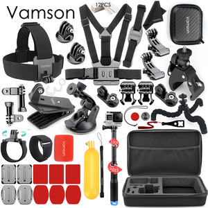 Image 1 - Vamson Accessories for GoPro Hero 8 7 6 5 Chest Strap Motorcycle Clamp Collection Box for Xiaomi Yi 4K for SJCAM for Eken VS153C