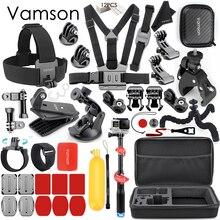 Vamson אביזרי עבור GoPro גיבור 8 7 6 5 חזה רצועת אופנוע מהדק אוסף תיבת לxiaomi יי 4K עבור SJCAM עבור Eken VS153C