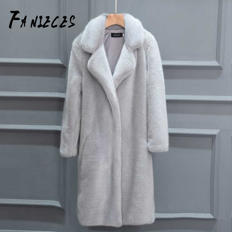 Women Luxury Fur Coat Winter manteau femme Long Faux Fur Coats Furry lady Fake Fur Coat Jacket High Quality abrigo pelo mujer