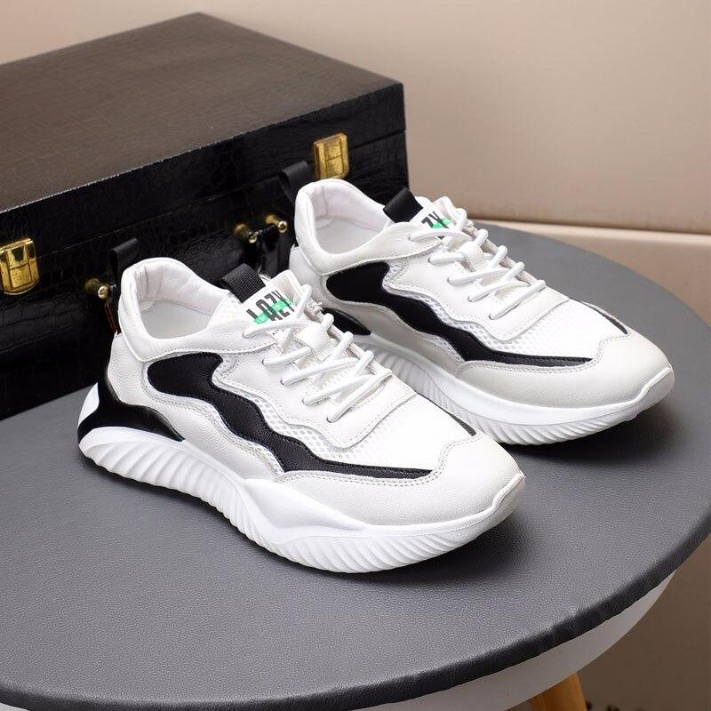 Повседневная обувь из натуральной кожи для улицы; Мужская Спортивная обувь; Кроссовки для мужчин; Вулканизированная обувь; Мужская обувь, у