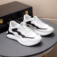 Genuine Leather Outdoor Casual Shoes Men Sports Shoes Sneakers Men Vulcanize Shoes Male Height Increasing Fashion Jogging Shoes