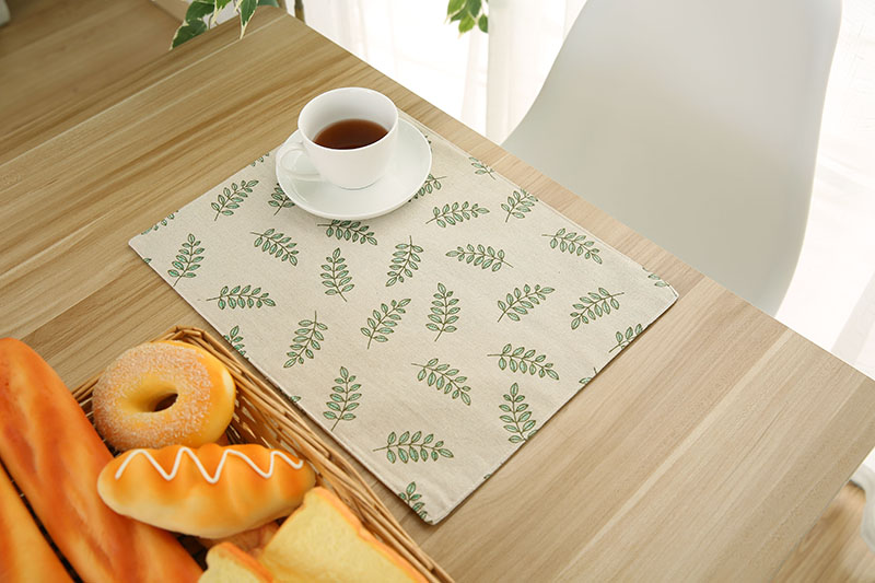 6pcs/lot Blank Sublimation Linen Eat Mat For Sublimation INK Print DIY Gifts Heat Press Transfe