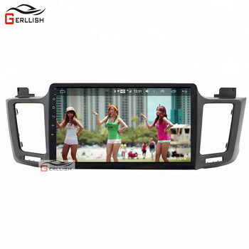 10.2inch Android car audio stereo dvd player for toyota RAV4 2013 2014 2015 2016 2017 2018 gps navigation image