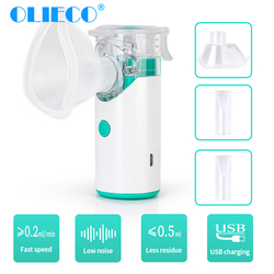 OLIECO Portable Nebulizer Child Adult Medical Steaming Inhaler 8ml Mini Ultrasonic Mesh Atomizer Silent USB Recharge Humidifier