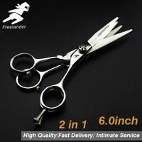 6.0Sale Silver Japanese Hair Scissors Cheap Hairdressing Scissors Thinning Shears Hairdresser Shaver Haircut