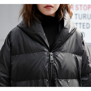 Image 3 - XITAO 2019 Winter Korea Fashion New Women Full Sleeve Casual Stand Collar Solid Color Patchwork Pullover Thick Parkas LJT4362