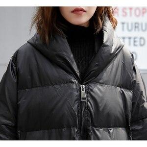 Image 3 - XITAO 2019 冬韓国ファッション新しい女性のフルスリーブカジュアルスタンド襟ソリッドカラーのパッチワークプルオーバー厚手パーカー LJT4362