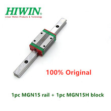 1pc Original Hiwin linear guide MGN15 200 250 300 350 400 450 500 550 mm MGNR15 rail +1pc MGN15H block carriage 3D printer cnc