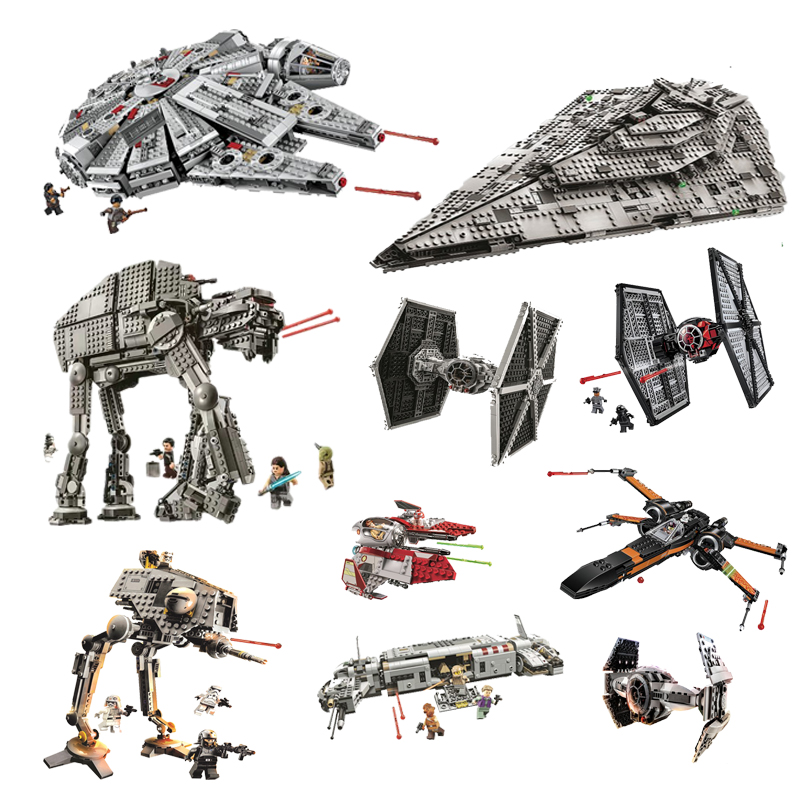 Star Wars Building Blocks Millennium Falcon Destroyer Bela 10901 Titanium Fighter Bela 10900 Classic Bricks Collection Toys