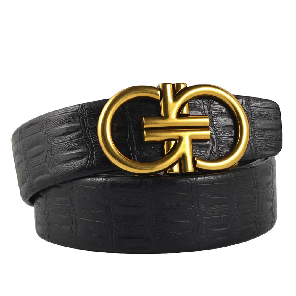 2019 High Quality Design Men's Business Fashion And Popular Leather Belt, Brand Personality Luxury Women Buckle Belt 235