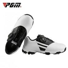 PGM детская обувь для гольфа водонепроницаемые спортивные кроссовки Нескользящие шипы обувь носимая дышащая обувь D0847