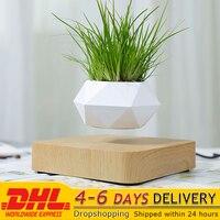 Drijvende Geometrische Bonsai Pot Rotatie Plantenbakken Magnetische Levitatie Bloempot Thuis Bureau Decor Creatieve Verjaardagscadeau Dhl