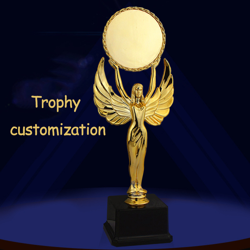 Customizable Trophy Innovation Children Award Gifts Gold-Plated Team Sports Competition Souvenir Collectible Champion Trophy Cup