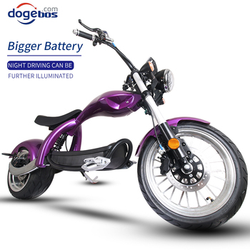 2000W Powerful Citycoco Eu Warehouse Electric Scooters Electric Motorcycle Front and Rear Shock Absorption LCD Display 2