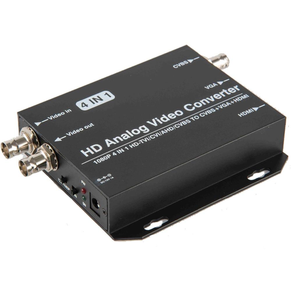 Free Shiping 720P 1080P AHD Camera CVI Camera TVI Camera To HDMI VGA CVBS Video Converter For CCTV Camera