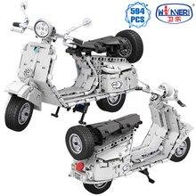 ERBO techniczne STEM motocykl Model samochodu zestaw do budowania bloki miasto pojazd MOC motocykl zestawy klocków zabawki dla dzieci