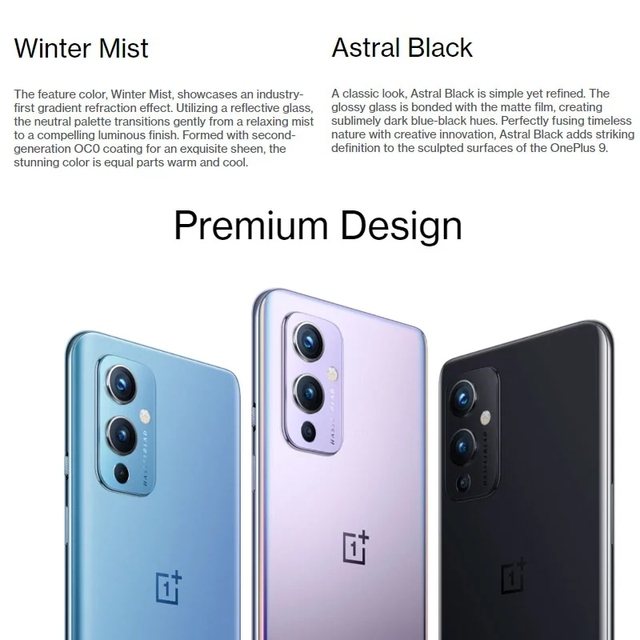Global Rom OnePlus 9 5G Mobile Phone Android 11 Snapdragon 888 8GB 128GB 6.5'' 120Hz Fluid AMOLED Hasselblad Camera Smartphone 6