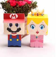 50/100 pièces dessin animé Super Marie Bros princesse mariée et le marié faveurs de mariage Mario boîte à bonbons cadeaux de mariage faveurs de douche de bébé