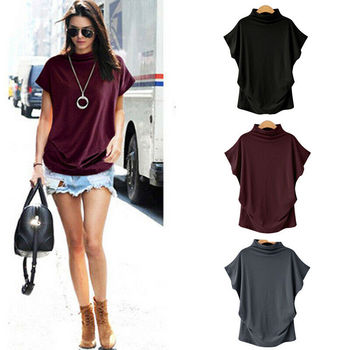 Women Tops Fashion Ladies t-shirt Summer Loose Crew Neck Short Sleeve Blouse bikini Cover Up fashion summer women camouflage loose t shirt short sleeve casual ladies tops summer bandage hollow out t shirt tops