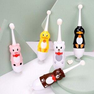 Image 1 - Children Electric Toothbrush Waterproof Sonic Vibrator Teeth Brush For Kids Cartoon Teeth Whitening Battery Powered