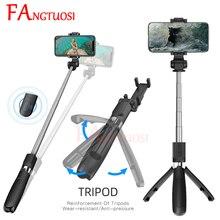 FANGTUOSI 새로운 무선 블루투스 Selfie 스틱 3 1 확장형 핸드 헬드 Monopod 미니 삼각대와 원격 셔터 팔로 selfie