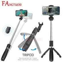 FANGTUOSI yeni kablosuz Bluetooth Selfie sopa 3 in 1 uzatılabilir elde tutulan tek ayak Mini Tripod uzaktan deklanşör palo selfie