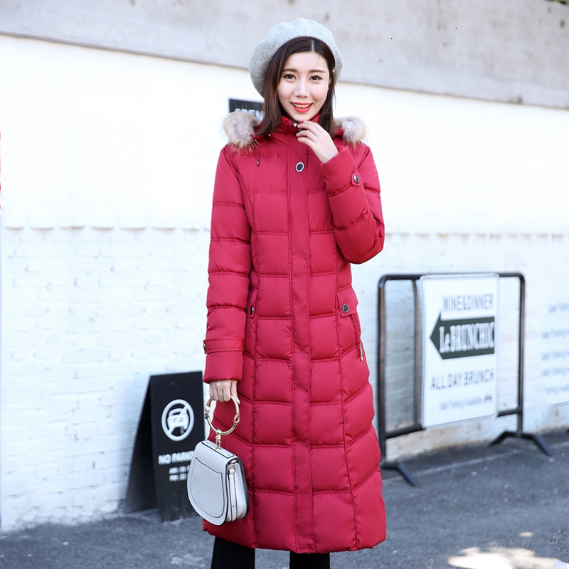 Winter Women Jas Long 2019 Female Size 4XL 5XL Capuchon Bontkraag   Parka   Plus Size For Women Herfst Overcoat