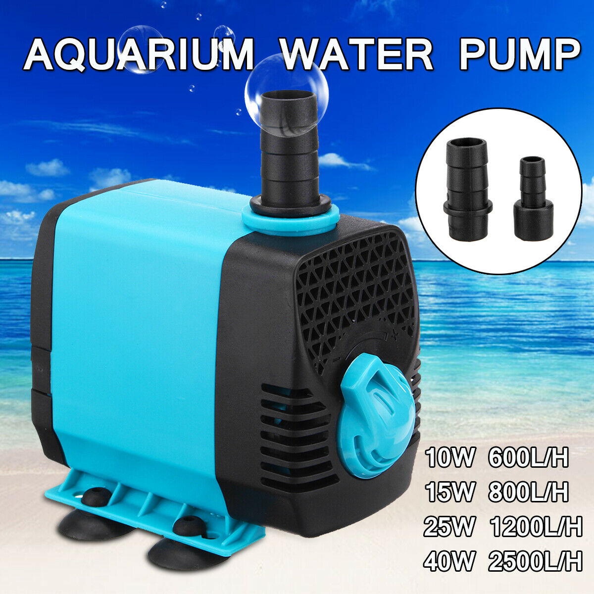 Submersible Aquarium <font><b>Water</b></font> <font><b>Pump</b></font> 10W 15W 25W 40W 55W AC110 Fish Tank Powerhead Fountain Hydroponic Ultra-quiet <font><b>Water</b></font> <font><b>Pump</b></font> US Plug image
