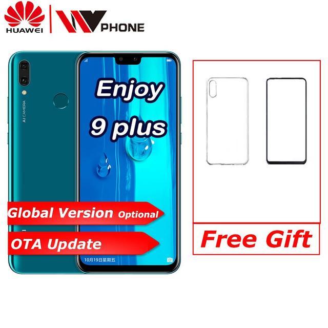 Oryginalny huawe Y9 2019 ciesz się 9 plus smartphone kirin 710 octa core podwójny przedni i tylny aparat 6.5 cala 4000 mAh