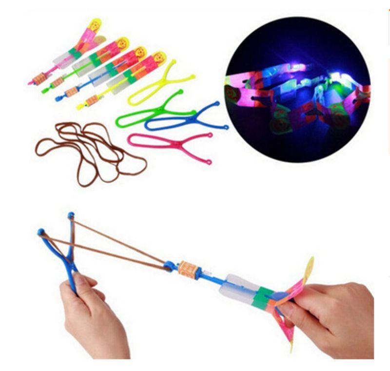 Led Light Flash Slingshot Arrows Luminous Rocket Slingshot Outdoor Children Toy Q6PD