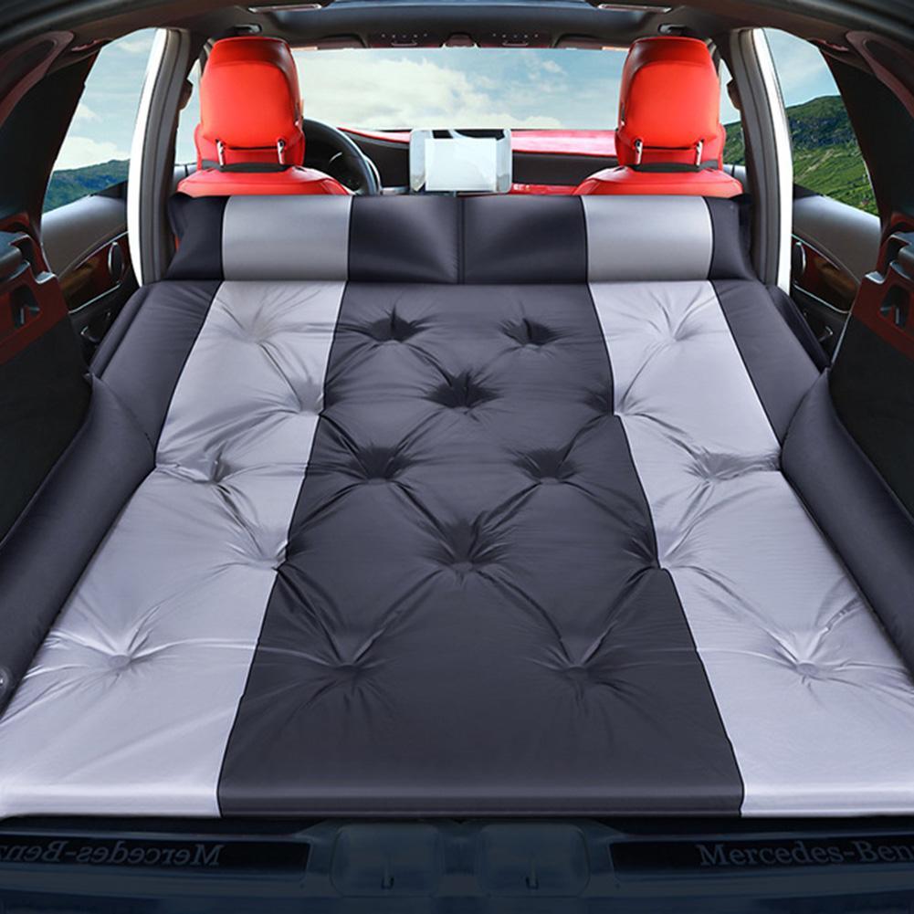 Car Inflatable Bed SUV Auto Mattress Rear Row Car Travel Sleeping Pad Off-road Air Bed Camping Mat Air Mattress Car Accessories