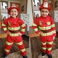 Карнавал Необычный детский Сэм пожарный Косплей Рабочая Униформа мальчик девочка костюм для выступления новогодний Рождественский подаро...