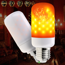 E26 E27 LED Flame Effect Fire Light Bulb E14 110V Flickering Emulation Decor Lamp Creative Lights 220V Christmas
