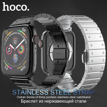 HOCO Brand Stainless Steel Band for Apple Watch Series 1 2 3 4 Strap Metal Butterfly Buckle Bracelet for iWatch 42/44mm 38/40mm hoco 2019 stainless steel strap for apple watch band 40mm 44mm metal links bracelet smart watch strap for i watch series 4 3 2 1