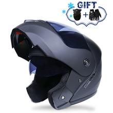 2019 New Flip Up Motorcycle Helmet Motorbike Modular Dual Lens Motocross Moto