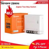 SONOFF-interruptor inteligente Itead Zigbee ZBMINI, módulo de interruptor de relé, MINI dos/2 vías, cambio de aplicación, Control de luz para casa inteligente