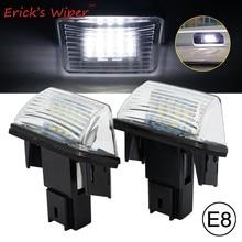 Erick es Limpiaparabrisas 2 uds LED luz de placa de matrícula lámpara para Citroen C3 C4 C5 Berlingo Saxo Xsara Picasso para Peugeot 206, 207, 306