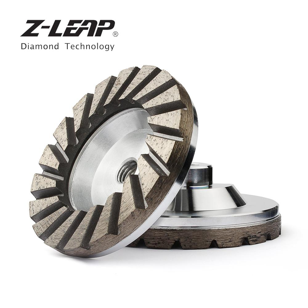 Z LEAP 4 Diamond Grinding Cup Wheel Aluminum Base Turbo Abrasive Tool For Concrete Granite Floor Coarse Grinding M14 Thread