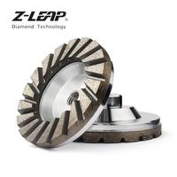 Z LEAP 4 Diamond Grinding Cup Wheel Aluminum Base Turbo Abrasive Tool For Concrete Granite Floor Coarse Grinding M14 Thread